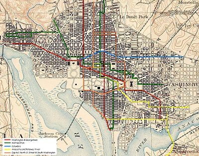 graphic regarding Printable Street Map of Washington Dc named Capitol, North O Road and South Washington Railway - Wikipedia