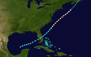 1896 East Coast hurricane - Image: 1896 Atlantic hurricane 5 track