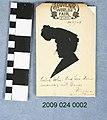 1904 World's Fair Souvenir Silhouette of Unidentified Woman.jpg
