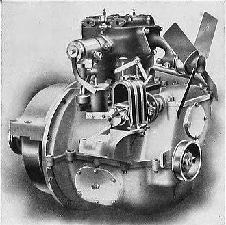 Rover 12 - Image: 1911 Knight Rover sleeve valve 2 cylinder petrol engine