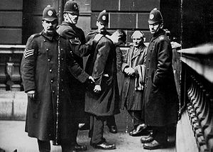 1919 in Scotland - January: David Kirkwood is detained by police during the Battle of George Square in Glasgow.