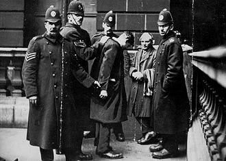David Kirkwood being detained by police during the Battle of George Square 1919 Battle of George Square - David Kirkwood.jpg