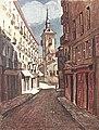 1924-10-18, La Esfera, Madrid viejo, Apuntes sobre el carácter, Luis Bello, Sancha, 01 (cropped) La iglesia de San Ginés, desde la calle de Bordadores.jpg