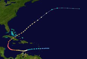 1932 Cuba hurricane - Image: 1932 Atlantic hurricane 14 track