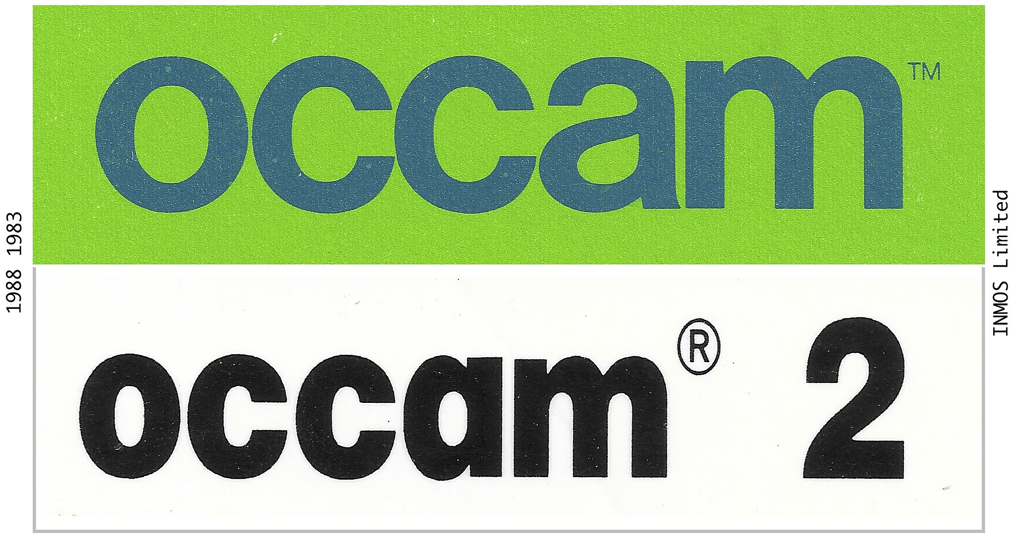 1983 1988 Trademark occam and occam 2 INMOS Limited
