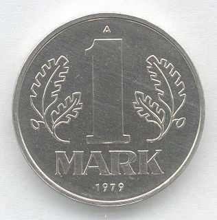 East German mark Currency of the German Democratic Republic (1948-1990)