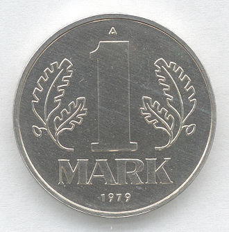 East German mark - Image: 1 Mark DDR Wertseite