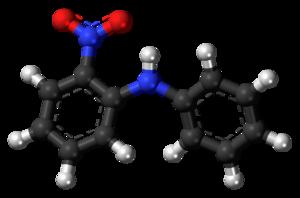 2-Nitrodiphenylamine - Image: 2 Nitrodiphenylamine 3D balls