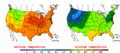 2002-09-09 Color Max-min Temperature Map NOAA.png