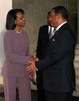 Perry Christie (rechts) met Condoleezza Rice (2006)