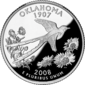 Oklahoma quarter dollar coin