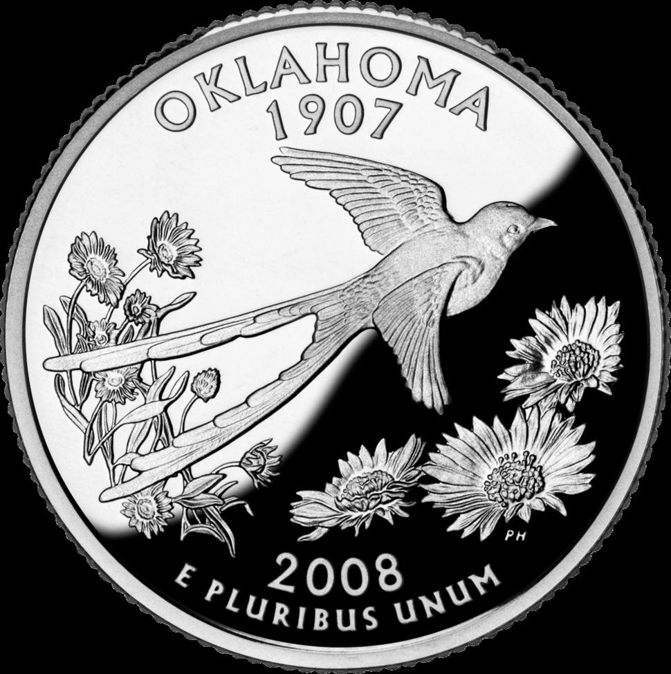 Oklahoma quarter dollar coin