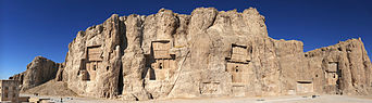Panorama of Naqsh-e Rostam, Shiraz, Iran.