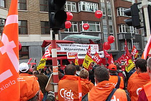 French Democratic Confederation of Labour - Demonstration in 2010 in Brussels