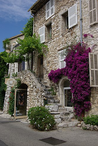 Alpes-Maritimes - Saint-Paul-de-Vence is known for its typical houses