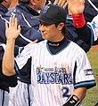 20120503 Naoto Watanabe, infielder of the Yokohama DeNA BayStars, at Yokohama Stadium.JPG