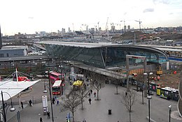 2012 Olympic Park viewed over Stratford Station from the roof of The Stratford Centre - geograph.org.uk - 1128399.jpg