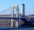 2013 George Washington Bridge New Jersey side from 187th Street and Chittenden Avenue.jpg