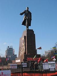 Statue of Lenin in Kharkiv