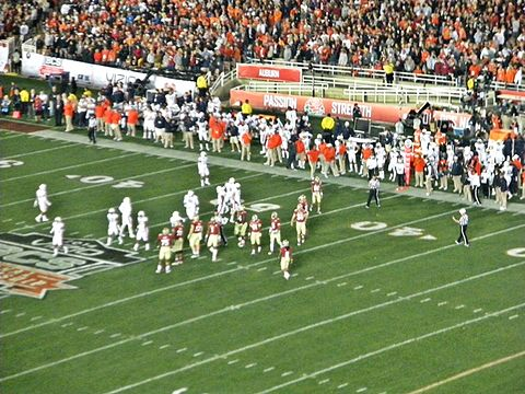 Florida State and Auburn in January 2014 2014 BCS Championship.JPG