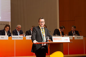 Peter Hauk - Hauk at the state party convention of CDU Baden-Württemberg in 2015