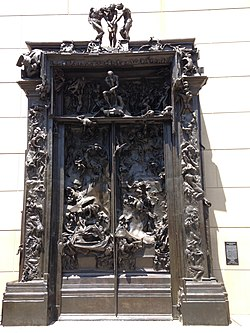 2015-Auguste Rodin-The Gates of Hell-a bronze sculpture in Stanford University.jpg
