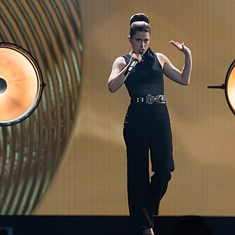 Germany in the Eurovision Song Contest 2015 - Ann Sophie at a dress rehearsal for the final