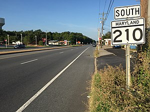 Maryland Route 210 - View south along MD 210 in Bryans Road