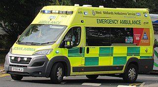 Ambulance Vehicle equipped for transporting and care for ill and wounded people