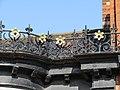 2018-04-03 Roofline Ironwork aesthetic daffodils, Church street, Cromer.JPG