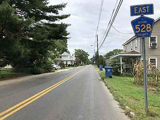 Plumsted Township, New Jersey - County Route 528 eastbound in Plumsted Township
