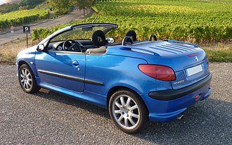 Peugeot 206 - Peugeot 206 CC (roof retracted)
