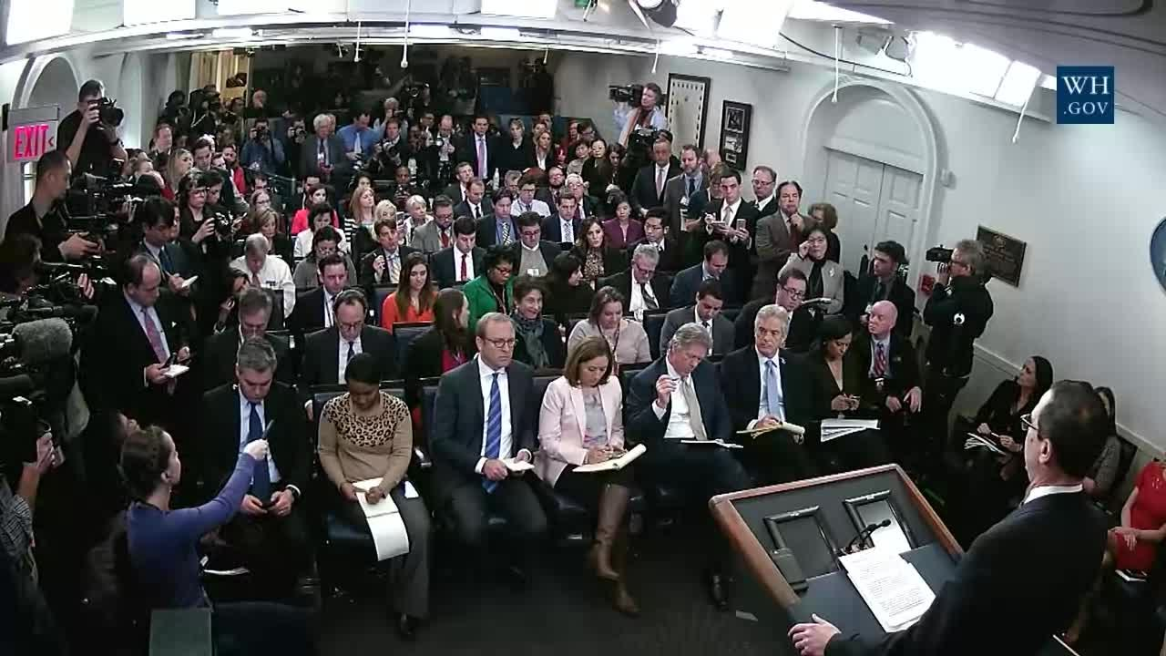 White House Briefing Room Seating Chart February  Front Row
