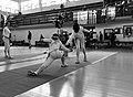 2nd Leonidas Pirgos Fencing Tournament. Lunge and touch for Pari Filippousi.jpg