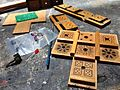 4093 NAND Synth - SynthRotek kit parts & original wood case, Battery Powered Orchestra Workshop.jpg