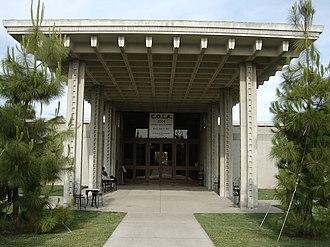 Los Angeles Municipal Art Gallery - Entrance to the Los Angeles Municipal Art Gallery, in Barnsdall Art Park.