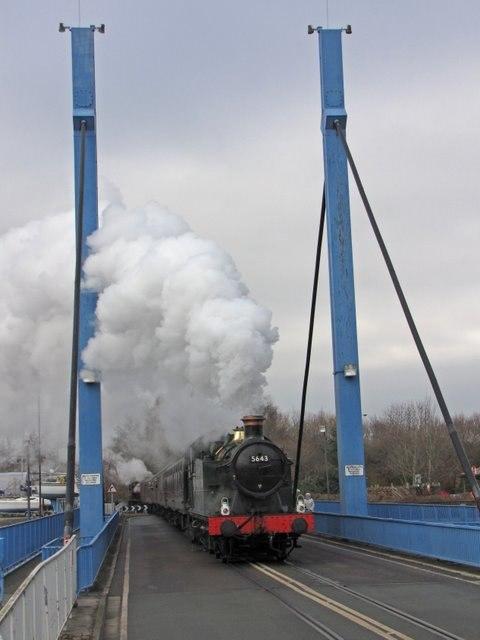 5643 on the swing bridge - geograph.org.uk - 1697655