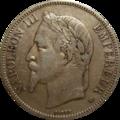 5 francs Napoléon III avers.png