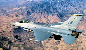 78th Attack Squadron - 78th FS F-16C Block 50D 91-0365, taken in 2002 over Arizona