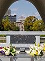 A-Bomb Dome through the Cenotaph (41371497684).jpg