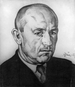 Anton Hansen Tammsaare - Portrait of A.H. Tammsaare by Nikolai Triik, 1927