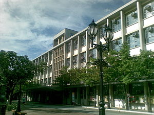 st raymund de peafort building which houses both the faculty of arts and letters and the college of commerce and business administration
