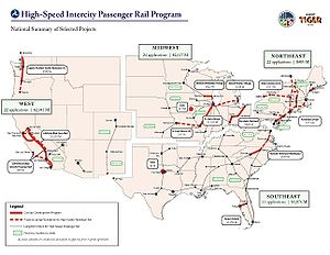 Intermodal Surface Transportation Efficiency Act - The high-speed corridors designated under ISTEA closely correspond with grants given under the American Recovery and Reinvestment Act—seventeen years later.