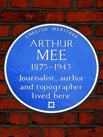 Arthur Mee - The blue plaque at Tulse Hill.