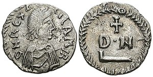 Vandalic War - Fifty-denarii coin of Gelimer