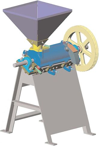 Rice huller - A rice huller able to use several sources of power
