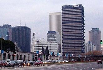 Banco Bilbao Vizcaya Argentaria - Image: AZCA (Madrid) 01