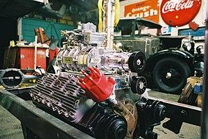 Ford flathead V8 engine - Supercharged flathead V8