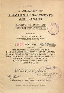 A Collection of Treaties, Engagements and Sanads relating to India and Neighbouring Countries Vol 7.djvu