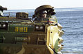 A ROK (Republic of Korea) Marine drives his AAV (Amphibious Assault Vehicle ashore during an amphibious assault by ROK and U.S. Marines on Tok Sok Ri beach, north of Pohang, Korea on March 23, 2002 as part 020323-A-MX570-067.jpg